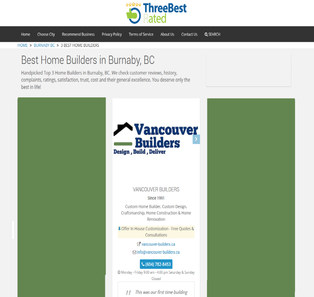 Best Custom Home Builder